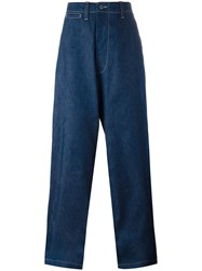 E. Tautz 'Field' Wide Leg Jeans Blue