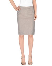 Fabiana Filippi Skirts Knee Length Skirts Women Light Grey