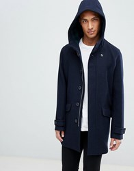 481821a19 Oxton Hooded Wool Coat In Navy