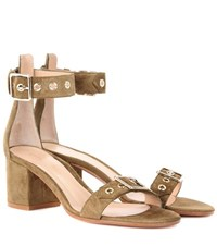 Gianvito Rossi Hayes 60 Suede Sandals Brown