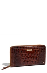 Brahmin Women's 'Suri' Zip Around Wallet Brown Pecan