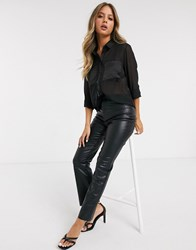Pimkie Sheer Shirt In Black
