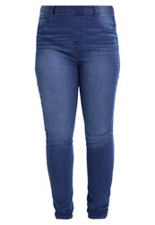 Dorothy Perkins Curve Eden Slim Fit Jeans Blue Blue Denim