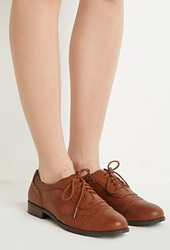 Forever 21 Faux Leather Brogues Tan