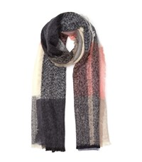 Reiss Selena Colour Block Scarf In Coral