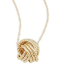 Saks Fifth Avenue Love Knot 14K Yellow Gold Pendant Necklace