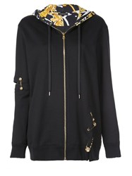 Versace Medusa Safety Pin Hoodie Black