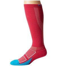 Feetures Elite Light Cushion Knee High Compression Deep Pink Hawaiian Blue Knee High Socks Shoes Red