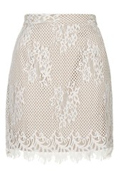 Lace Midi Skirt By Glamorous White