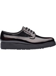 Prada Brushed Leather Platform Derby Shoes Unavailable