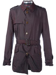 Vivienne Westwood Vintage Belted Trench Coat Red