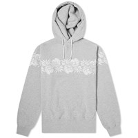 Sacai X Sun Surf Pineapple Embroidered Hoody Grey