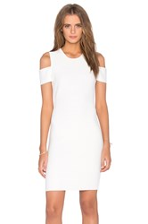 Bcbgmaxazria Monicka Open Shoulder Dress White