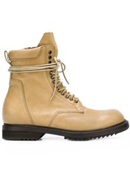 Rick Owens 'Low' Army Boots Brown