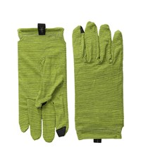 Nts Mic 150 Pattern Glove Smartwool Green Liner Gloves