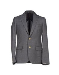 Royal Hem Suits And Jackets Blazers Men Grey