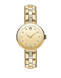 Movado Ladies Goldtone Sapphire Watch