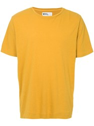 Margaret Howell Short Sleeve Fitted Thirt Yellow And Orange