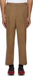 Marni Tan Wool Oversized Trousers