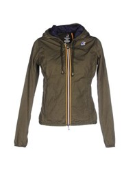 K Way Coats And Jackets Jackets Women Military Green