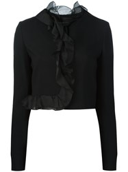 Giambattista Valli Fitted Cropped Jacket Black