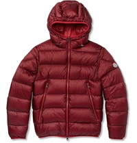 Moncler Chauvon Quilted Shell Down Jacket Red