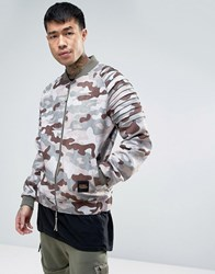Cayler And Sons Bomber Jacket In Camo Pink
