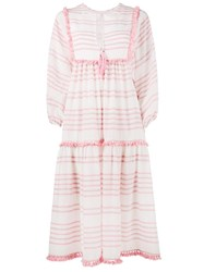 Zimmermann Striped Valour Dress Pink And Purple