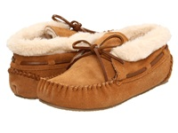 Minnetonka Chrissy Bootie Cinnamon Suede Women's Slippers Tan