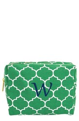 Cathy's Concepts Monogram Cosmetics Case Green W