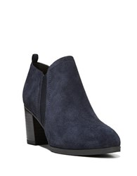 Franco Sarto Banner Suede Ankle Length Boots Navy Blue