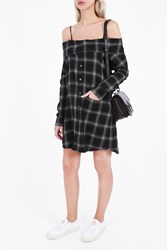 R 13 R13 Women S Plaid Shirt Dress Boutique1 Black