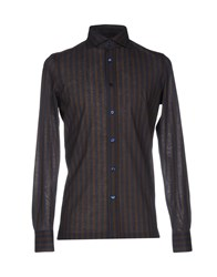 Giampaolo Shirts Dark Brown