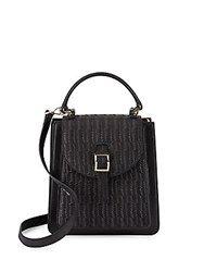Meli Melo Floriana Woven Leather Crossbody Bag Black
