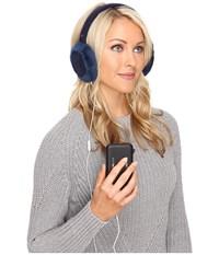 Ugg Wired Cable Earmuff Navy Multi Traditional Hats Blue