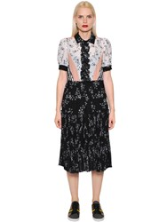 I'm Isola Marras Star Printed Techno Chiffon Dress