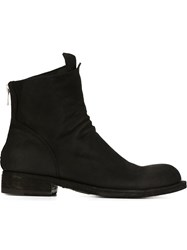 Officine Creative Back Zip Boots Black