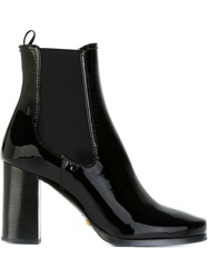 Car Shoe High Chunky Heel Ankled Boots Black