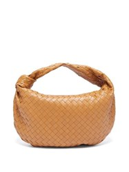 Bottega Veneta Bv Jodie Small Intrecciato Leather Shoulder Bag Tan