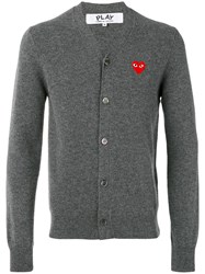 Comme Des Garcons Play Lightweight Cardigan Grey