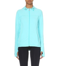 Sweaty Betty Shoreline Stretch Jersey Hoody Tail Green Marl