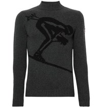 Fusalp Skieur Merino Wool And Cashmere Blend Sweater Gray