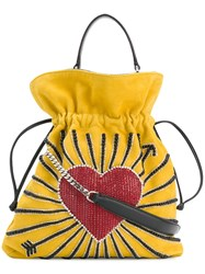 Les Petits Joueurs Heart Pouch Yellow And Orange