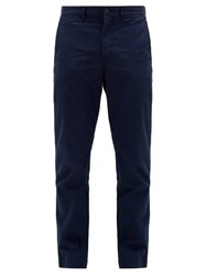 Polo Ralph Lauren Logo Embroidered Straight Leg Cotton Chinos Navy