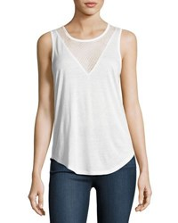 Paige Briley Mesh V Tank Top White