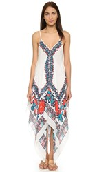 Theodora And Callum Caravan Scarf Dress White Multi