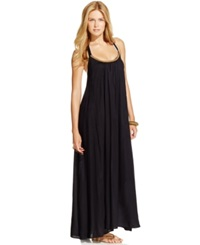 Raviya Beaded Maxi Dress Cover Up Women's Swimsuit Black