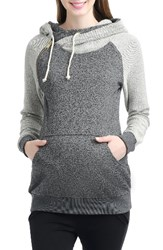 Kimi And Kai Women's Mattie Raglan Sleeve Maternity Hoodie Grey