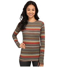 Burton Midweight Wool Crew Blanket Stripe Women's Clothing White