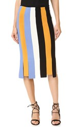 Salvatore Ferragamo Car Wash Skirt Gold Blue